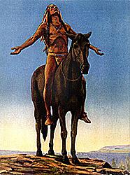 """Nadie hay con más ignorancia que ellos mismos acerca de las culturas indias norteamericanas. Lo único que conocen es Buffalo Bill y la conquista del Oeste, etc. Han perdido todas sus señas de identidad""""."""