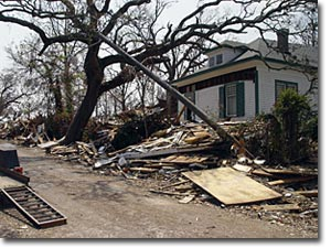 Tornado. Devastacion