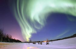 Las auroras boreales, uno de  los efectos visibles más llamativos  de una eyección solar, pueden llegar a verse en latitudes poco habituales.