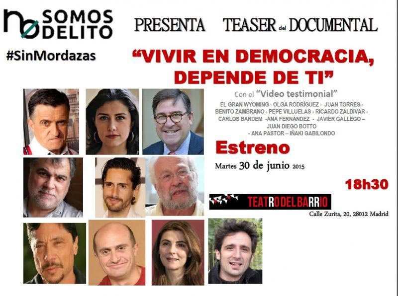 "documental ""Vivir en Democracia, depende de ti"""
