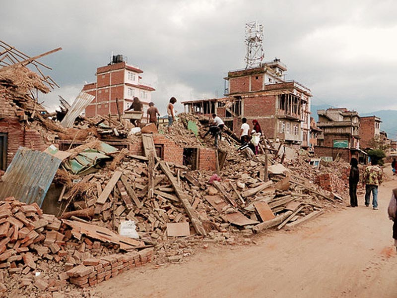 Daños causados por el terremoto en Nepal. / SIM Central and South East Asia